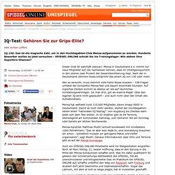IQ-Test: Gehören Sie zur Grips-Elite? - SPIEGEL ONLINE - Nachrichten - UniSPIEGEL