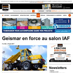 Geismar en force au salon IAF