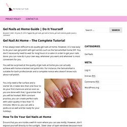 Gel Nails at Home Guide
