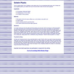 Gelatin Plastic Recipe