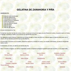 GELATINA DE ZANAHORIA Y PIÑA
