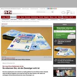 Der neue Euro-Geldschein ist da: So erkennen Sie, ob der Zwanziger echt ist
