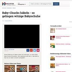 VIDEO: Baby-Chucks häkeln - so gelingen witzige Babyschuhe