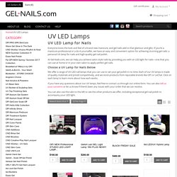 UV LED Lamp for Nails