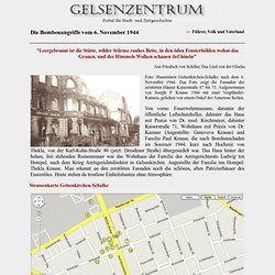 Strassenkarte Gelsenkirchen-Schalke, Bombenangriffe 6. November 1944