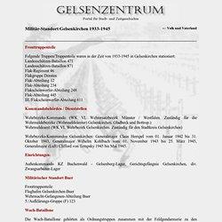 Gelsenkirchen - - Militär-Standort Gelsenkirchen 1933-1945