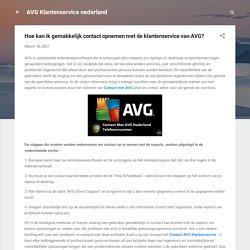 Hoe kan ik gemakkelijk contact opnemen met de klantenservice van AVG?