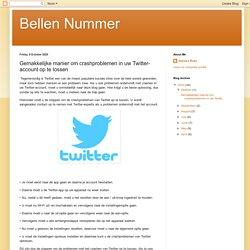 Gemakkelijke manier om crashproblemen in uw Twitter-account op te lossen