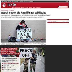 Gemeinsame Erklärung: Appell gegen die Angriffe auf Wikileaks