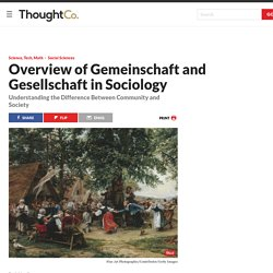 The Concept of Gemeinschaft and Gesellschaft