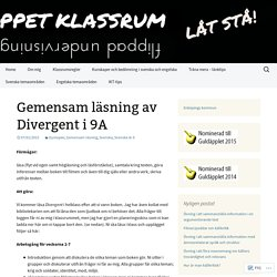 Gemensam läsning av Divergent i 9A