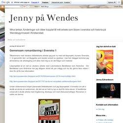 Jenny på Wendes: Gemensam romanläsning i Svenska 1