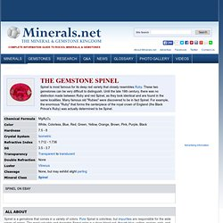 Spinel: The gemstone ruby Spinel information and pictures