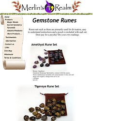 Gemstone rune sets