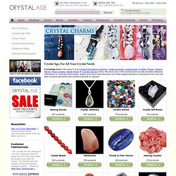 Crystal Jewellery, Healing Crystals, Gemstone and Mineral Specimens