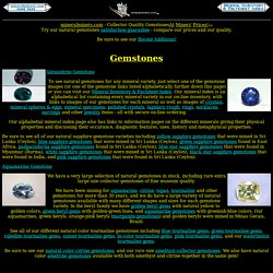 Gemstones (natural untreated gemstones)