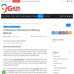 9 Gemstones (Navratna) And Their Wearing Methods