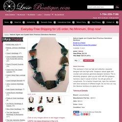 Semi Precious Gemstone Necklace