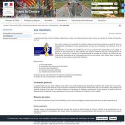 Les missions / Gendarmerie / Sécurité et protection des personnes / Services de l'Etat / Accueil - Les services de l'État dans la Creuse