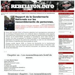 Rapport de la Gendarmerie Nationale sur les rassemblements de personnes.