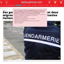 Des gendarmes français déposent deux migrants à Clavière, sans autorisation italienne