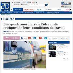 Les gendarmes fiers de l'être mais critiques de leurs conditions de travail