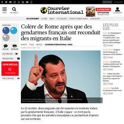 Colère de Rome après que des gendarmes français ont reconduit des migrants en Italie