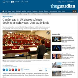 Gender gap in UK degree subjects doubles in eight years, Ucas study finds