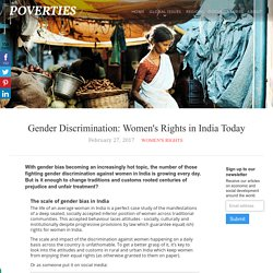 Gender Discrimination: Women's Rights in India Today