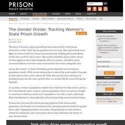 1/9/18: The Gender Divide– Tracking women's state prison growth