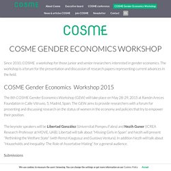 COSME Gender Economics Workshop » Cosme