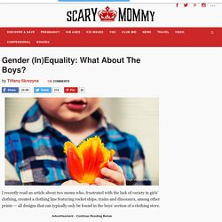 Gender (In)Equality: What About The Boys? Scary Mommy