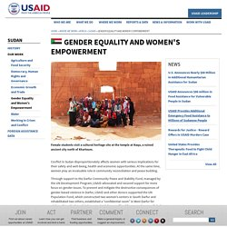 Gender Equality and Women's Empowerment