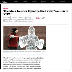 The More Gender Equality, the Fewer Women in STEM