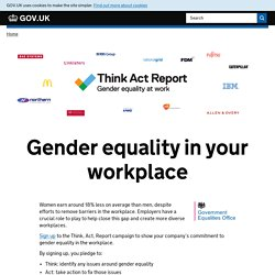 Gender equality in your workplace