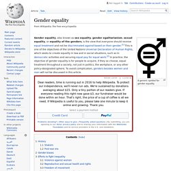 Gender equality - Wikipedia