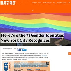 Here Are the 31 Gender Identities New York City Recognizes