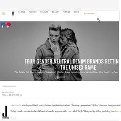 Four Gender Neutral Denim Brands Getting Into the Unisex Game