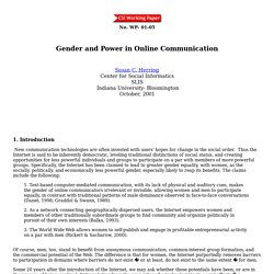 Gender and Power in Online Communication:WP01-05