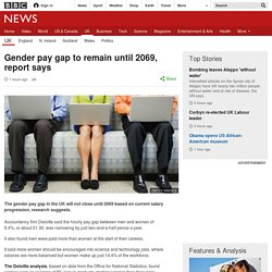 Gender pay gap to remain until 2069, report says