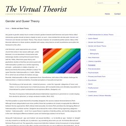 Gender and Queer Theory « The Virtual Theorist