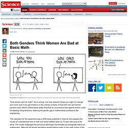 Both Genders Think Women Are Bad at Basic Math