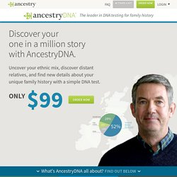 DNA Tests for Ethnicity & Genealogical DNA testing