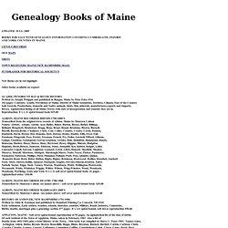 Genealogical Books of ME