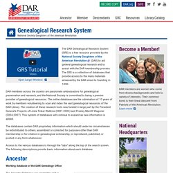 DAR Genealogical Research Databases