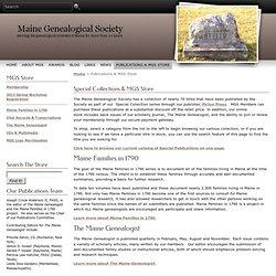 Maine Genealogical Society