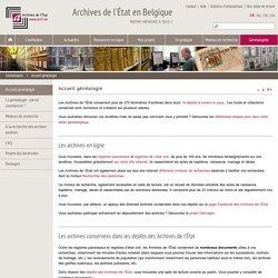 Accueil généalogie - Archives de l'État en Belgique