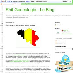 Compléments aux archives belges en ligne !