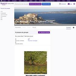 Groupe Yahoo - GénéaCorse