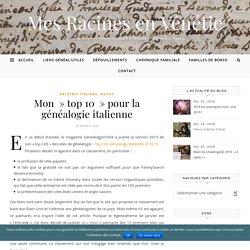 """Mon """"top 10″ pour la généalogie italienne"""